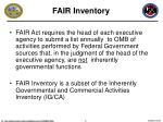fair inventory