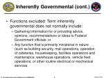 inherently governmental cont5