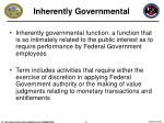 inherently governmental