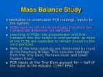 mass balance study