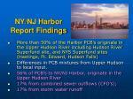 ny nj harbor report findings