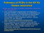 pathways of pcbs in the ny nj harbor watershed