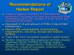 recommendations of harbor report