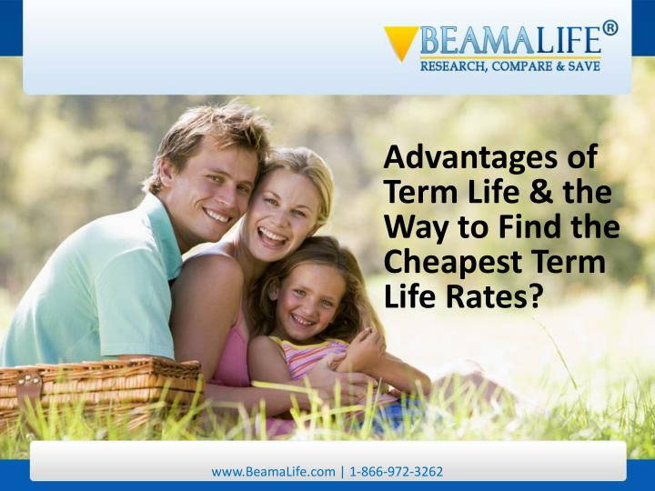 Advantages of Term Life & the Way to Find the Cheapest Term Life Rates?