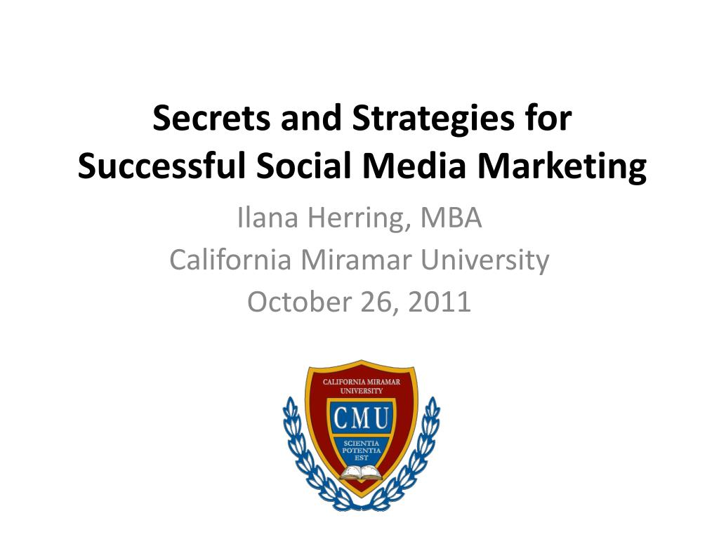 secrets and strategies for successful social media marketing l.