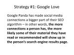 strategy 1 google love