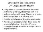 strategy 3 youtube com is 2 nd largest search engine