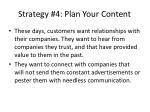 strategy 4 plan your content