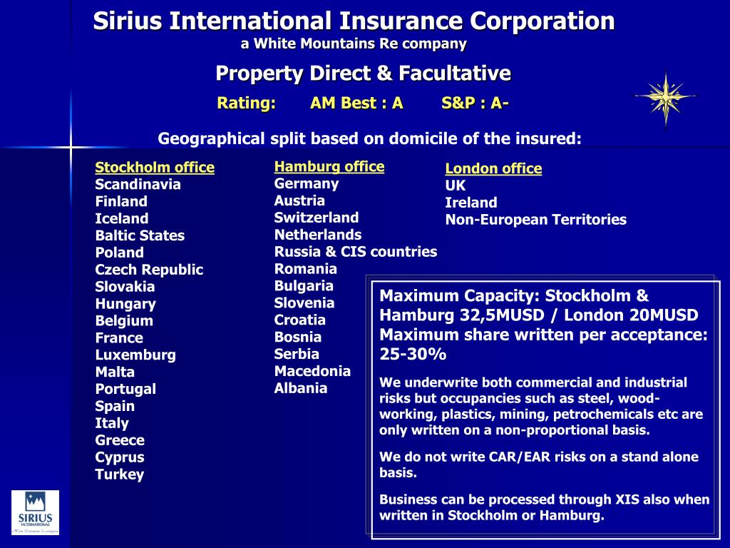 sirius international insurance corporation a white mountains re company l.