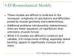 3 d biomechanical models