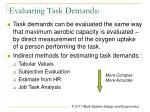 evaluating task demands