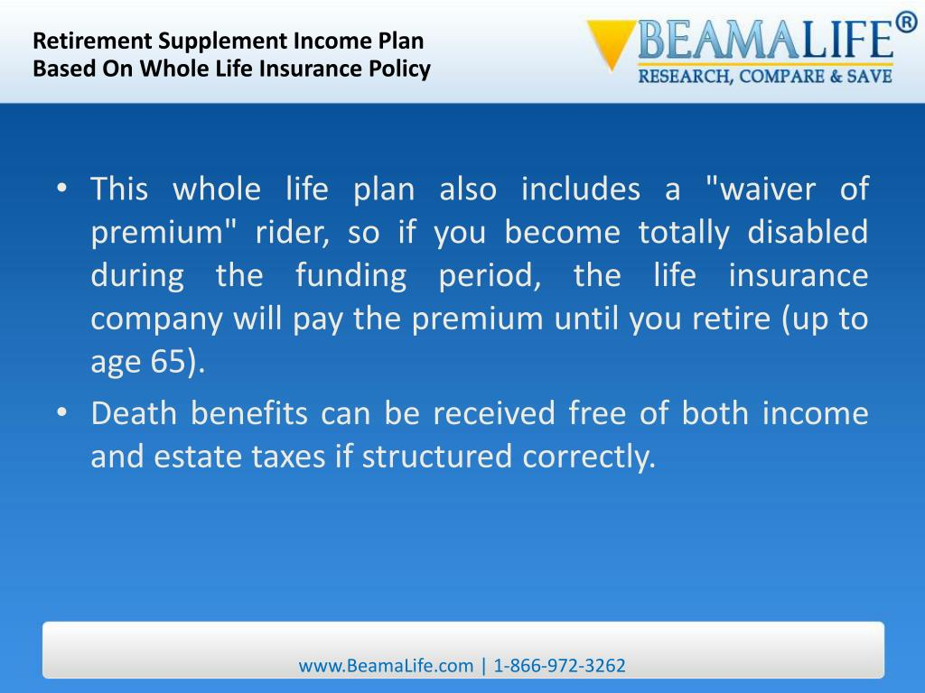 Retirement Supplement Income Plan