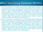 about tanvi group developer mumbai