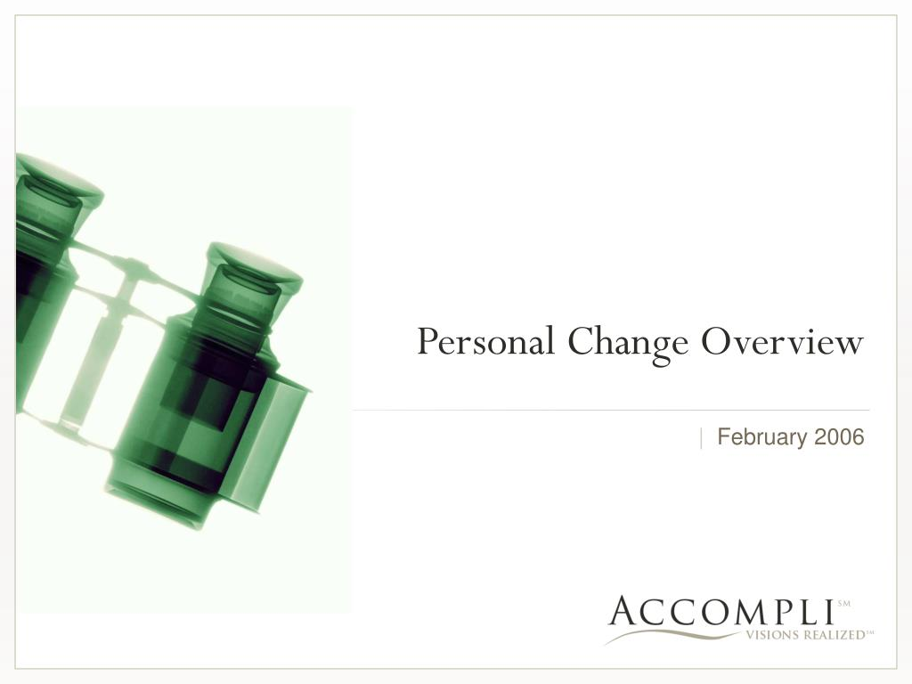 personal change overview l.