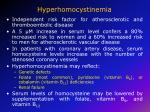 hyperhomocystinemia