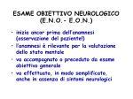 esame obiettivo neurologico e n o e o n