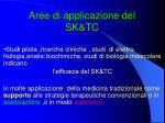 aree di applicazione del sk tc