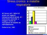 stress cronico e malattie respiratorie