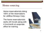 home sourcing