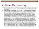off site outsourcing
