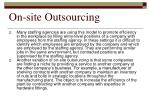on site outsourcing