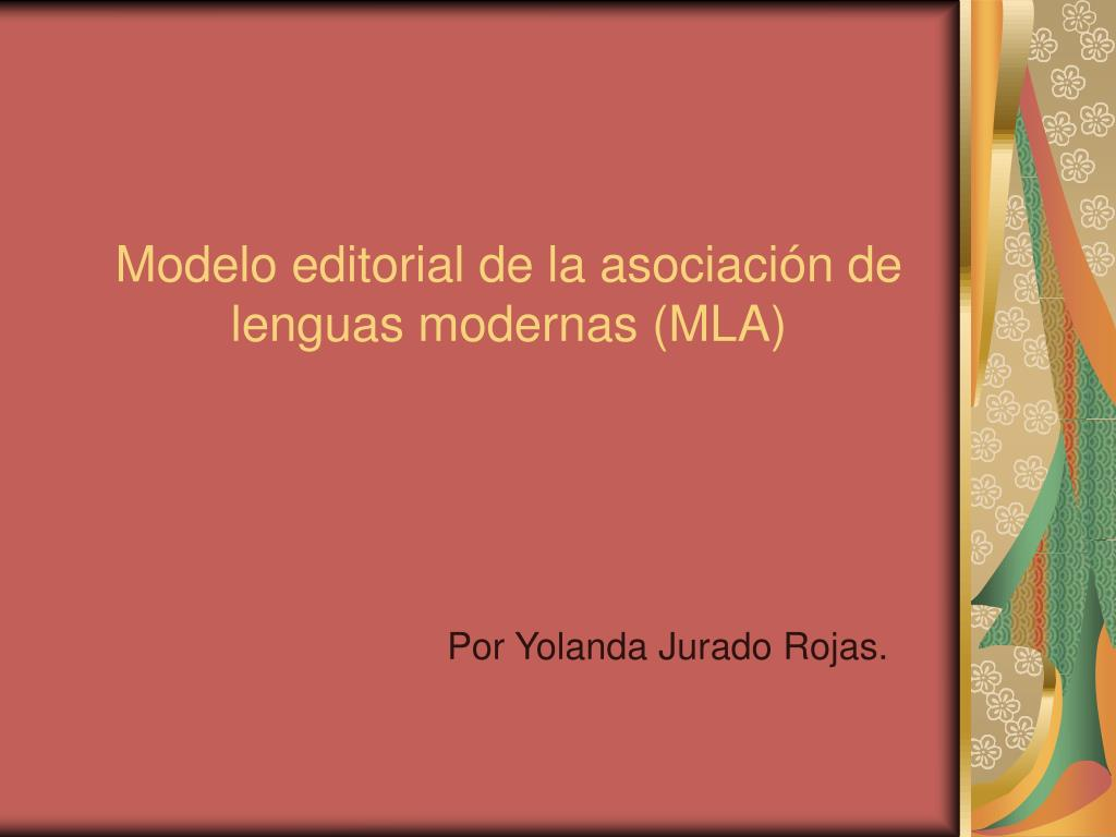 modelo editorial de la asociaci n de lenguas modernas mla l.
