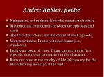 andrei rublev poetic