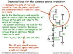improved load for the common source transistor