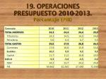 19 operaciones presupuesto 2010 2013 porcentaje pib