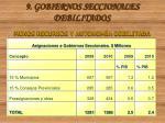9 gobiernos seccionales debilitados menos recursos y autonom a debilitada