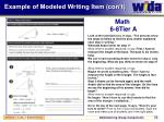 example of modeled writing item con t