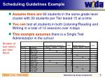 scheduling guidelines example