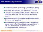 test booklet organization