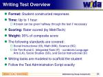 writing test overview