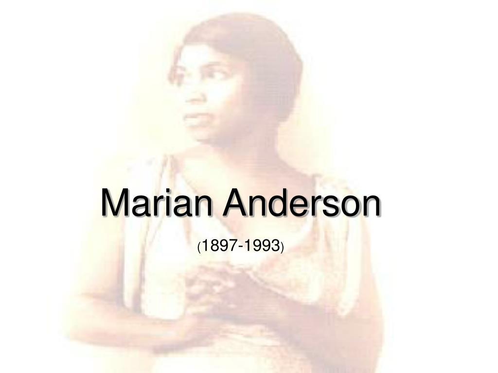 marian anderson l.