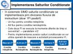 implementarea salturilor conditionate