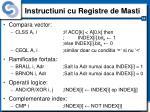 instructiuni cu registre de masti