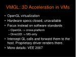 vmgl 3d acceleration in vms