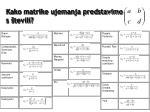 kako matrike ujemanja predstavimo s tevili