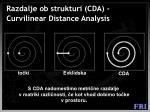 razdalje ob strukturi cda curvilinear distance analysis