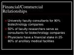 financial commercial relationships