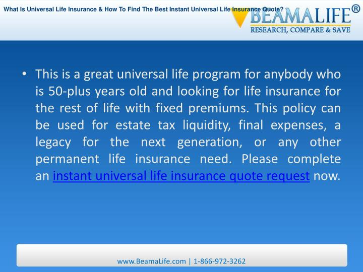 Universal Life Insurance Quotes Instant Best Quote 2018