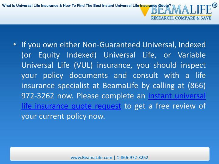 Guaranteed Universal Life Insurance Quotes Best Quote 2018