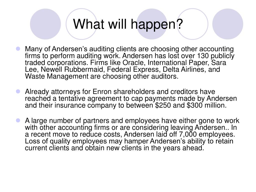 arthur andersen accounting scandal