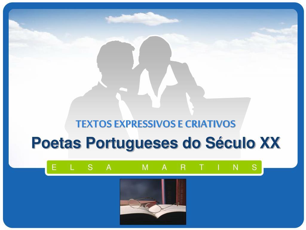 textos expressivos e criativos poetas portugueses do s culo xx l.