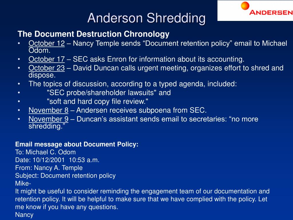 Anderson Shredding