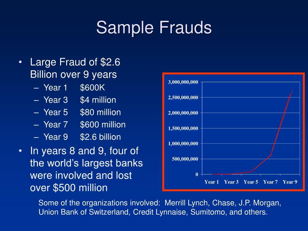 Sample Frauds