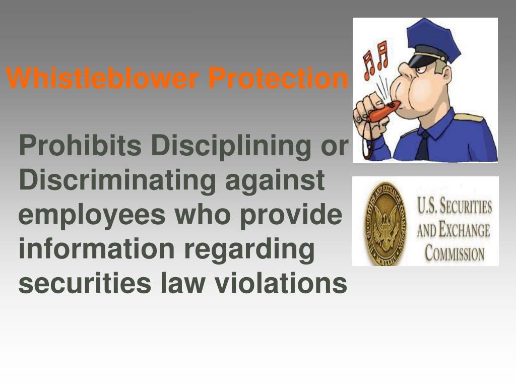 Whistleblower Protection