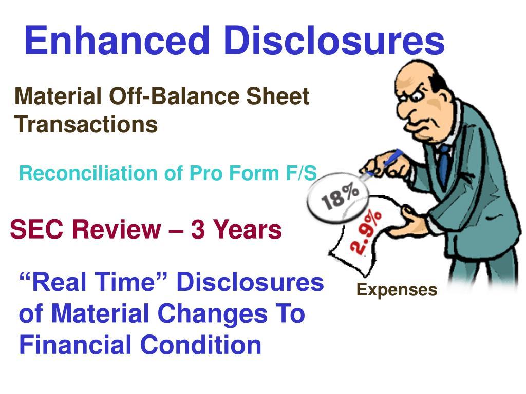 Enhanced Disclosures