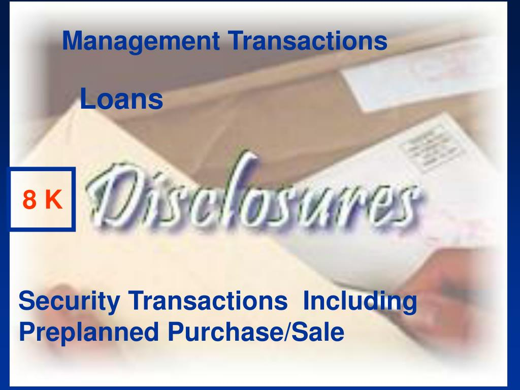 Management Transactions